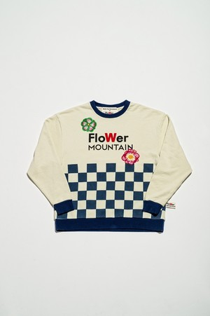 Walter Van Beirendonck for FlowerMOUNTAIN 2020/3 IVORY CHECKS SWEATSHIRT