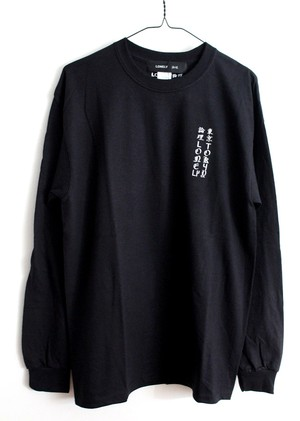LONELY論理#9 SUKEBE DES LIZARD2 LONG SLEEVE / BLACK
