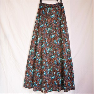 French Flower Pattern Long Skirt
