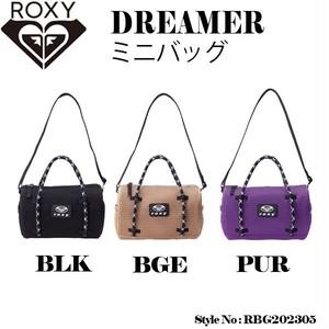 RBG202305 ロキシー ショルダーバッグ レディース 軽い コンパクト 新作 おしゃれ プレゼント 人気ブランド 黒 ベージュ 紫 白ロゴ ミニバッグ DREAMER ROXY