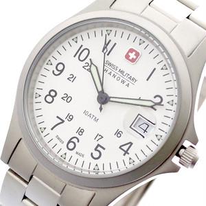 スイスミリタリー SWISS MILITARY 腕時計 メンズ レディース ML-18 クォーツ ホワイト シルバー シルバー