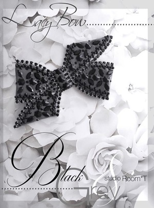 【brooch】Lacy bow グレー
