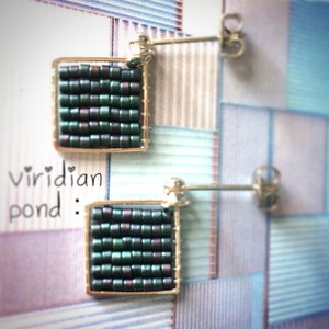 viridian pond:pierce & earring