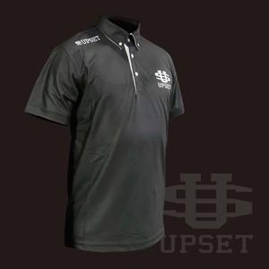 [新商品]UPSETボタンダウンポロシャツ BLACK
