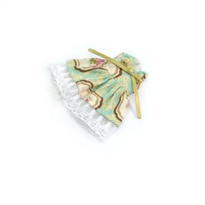 ミキちゃんマキちゃんサイズ ダマスク柄と花柄のワンピース