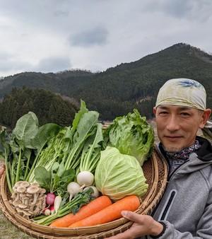 旬の高原野菜セット「Mサイズ」お野菜8~10種類 大和高原の恵み♪(有機野菜・農薬不使用・減農薬)