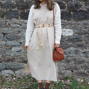 USA VINTAGE NO SLEEVE LINEN ONE PIECE/アメリカ古着ノースリーブリネンワンピース