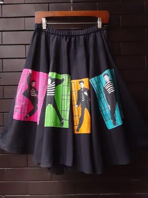 """Elvis Presley"" print circular skirt  ヴィンテージ エルヴィスプレスリープリント 、スカート"