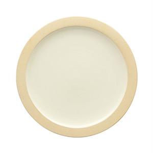 出西窯 縁焼〆皿 5寸 白