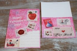 Happy Valentine's Day のカード3枚セット