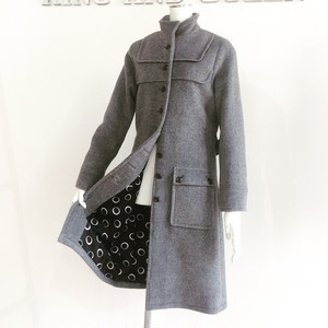 Gray Wool Women Coat グレー ウールコート KQCLF0402