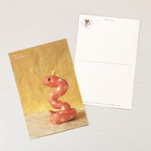 ポストカード(へびのお姫さま)