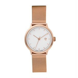 【CHPO】Nando Mini Rose White dial / Metal mesh wristband