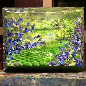 『青いハーブの丘』油絵