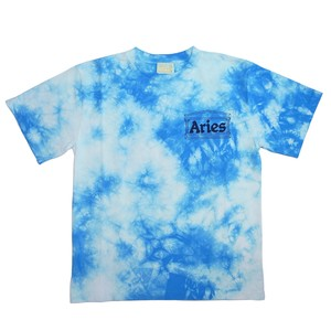 Aries Temple Tie Dye SS T Blue