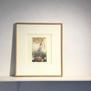 【版画アマビエ展】安井 寿磨子 「海女美依天使」YASUI Sumaco