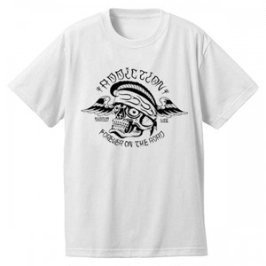 "Addiction KUSTOM THE LIFE SHORT SLEEVE TEE ""FOR EVER ON THE ROAD"" WHITE アディクション 半袖 Tシャツ"