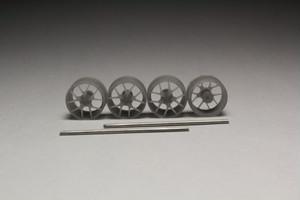 8.5mm BBS RI-S タイプ 3Dプリント ホイール 1/64 未塗装
