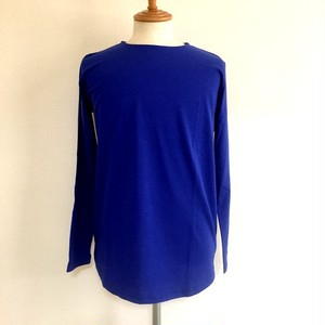 Long Length Crew Neck Cut & Sewn Blue