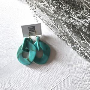 pierce or earring / ビッグフォームピアスorイヤリング グリーン