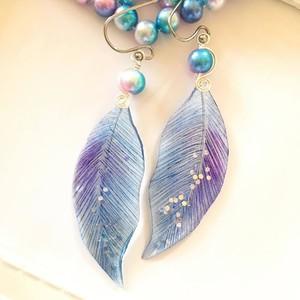 オーロラ色の羽飾り【ミッドナイト】