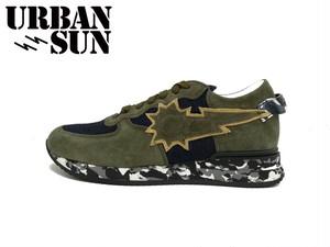 URBAN SUN (アーバンサン) andre120 アンドレ ランニングモデル ローカットスニーカー ミリタリーブラウン メンズ スニーカー