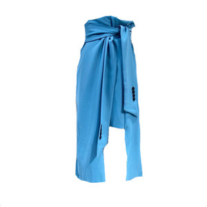 ウエストタイスリットロングスカート(Blue,Black) 55