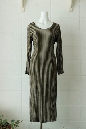 90s stripe back string dress