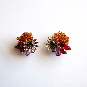 202-5 粒花 brown & red & purple