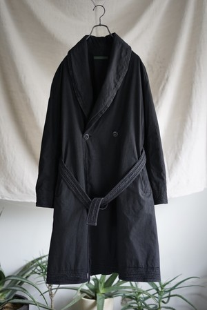 <SOLD OUT>Casey Vidalenc - Lapel Robe Cotton Coat made in France