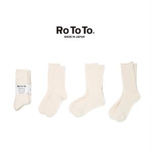 (ロトト)RoToTo ORGANIC COTTON DAILY 3 PACK SOCKS