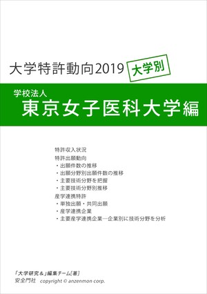 大学特許動向2019―東京女子医科大学編