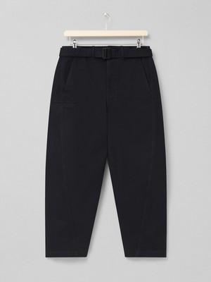 LEMAIRE TWISTED PANTS 999 BLACK M 211 PA137 LD049