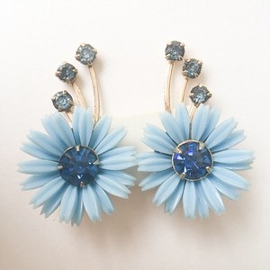 blue flower earring[e-911]