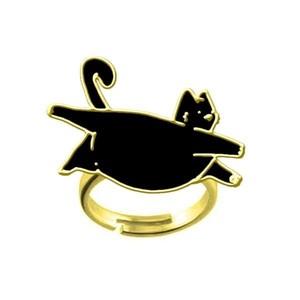 LEON KARSSEN - FATCAT RING BLACK & GOLD