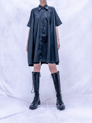 【WOMENS - 1 Size】SHORTSLEEVE SHIRT ONEPIECE / 2colors