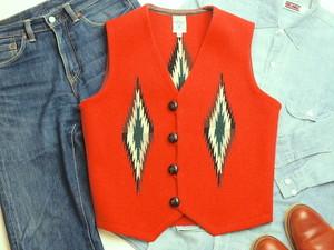 Ortega's オルテガ 手織りチマヨベスト 83RG-36322 サイズ36 オレンジ