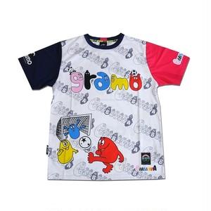 BARBAPAPA×gramo コラボ プラシャツ「pass」(ピンク×ネイビー/P-028) ※S~Lサイズ