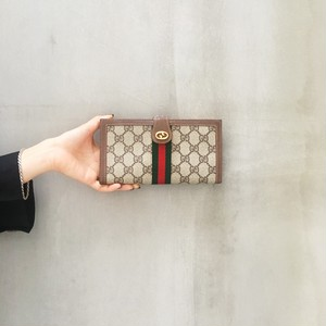 OLD GUCCI sherry line Tri-fold wallet