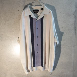 Silk Three Line Open Collor Shirt
