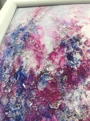 絵画(クリスタルコラージュ)マゼンタの愛