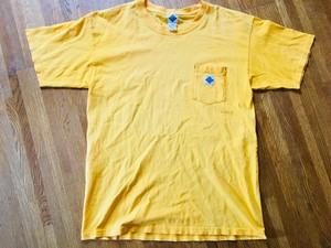 POST OVERALLS ポストオーバーオール 日本製 ポケットTシャツ 黄色 イエロー ワークブランド