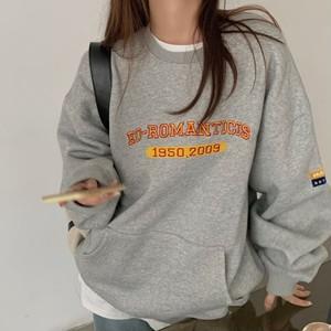 【翌日発送/グレー/1点限定】【人気NO.26】Front logo pocket sweatshirt LD0458