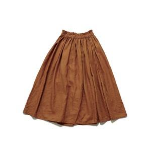 リネンギャザースカート*レンガ色