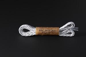 BRAID SHOE LACE / WHITE × LIGHT GREY