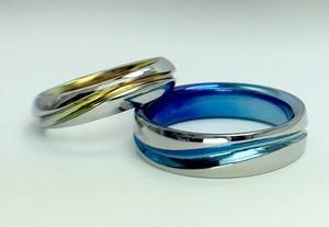 ジルコニウム結婚指輪(アレルギーフリー) オン・ザ・ウェーブ <No7-2>