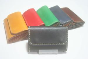 ♪オーダーメイド キーケースサイズ レザーミニマルウォレット 小さい財布♪