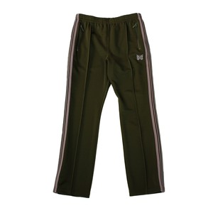NEEDLES Narrow Track Pant - Poly Smooth Khaki