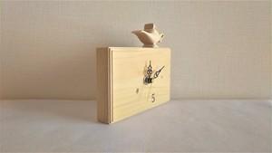 木製置き時計 四角形 ランダム