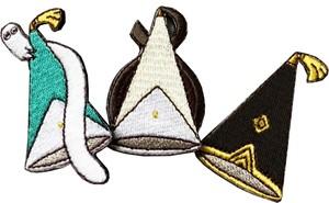 とんがり帽子刺繍バッジ3種(Bセット)